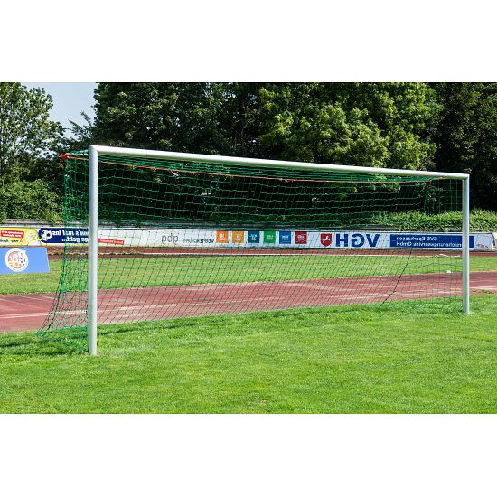 Aluminium Football Goal, 7.32x2.44 m, bolted mitre joints, stands in ground sockets