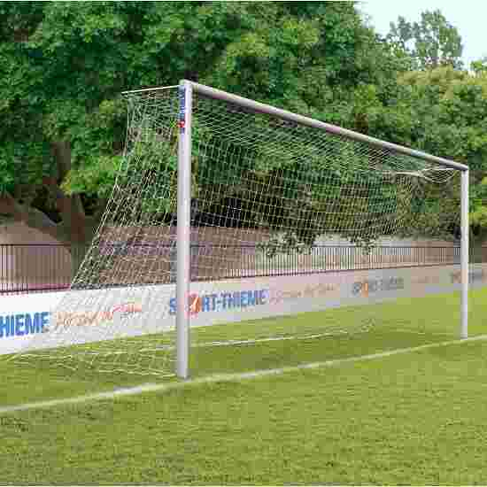 Aluminium Football Goal, 7.32x2.44 m, Socketed with Bolted Mitre Joints Anodised matt silver