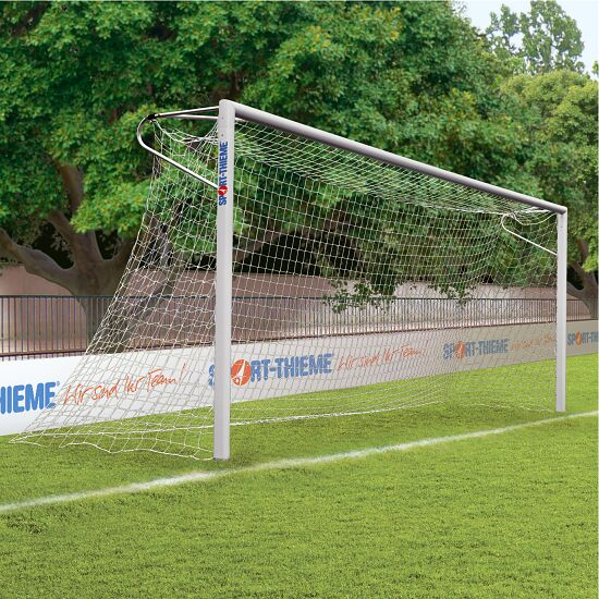 Aluminium Football Goal, 7.32x2.44 m, with Welded Corners, Socketed Net hooks