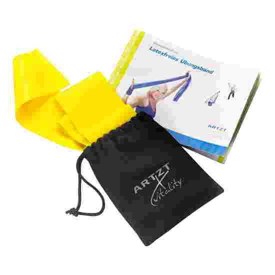 Artzt Vitality Latex-Free Exercise Band 2.5 m, Yellow, low