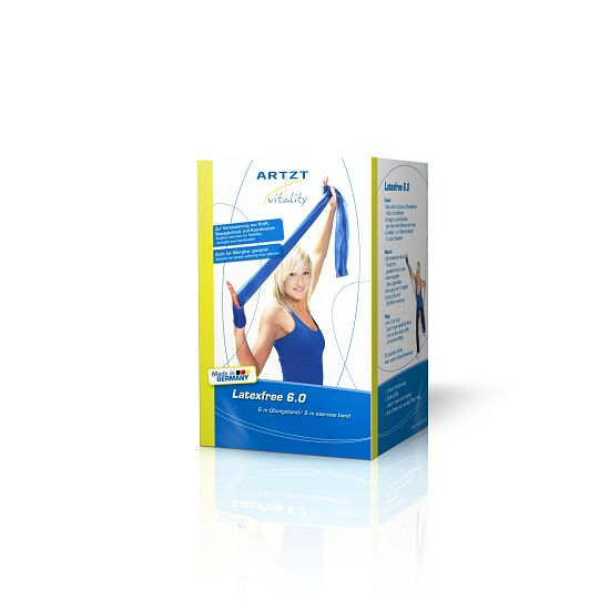 Artzt Vitality træningsbånd, latexfri 25 m, Blå, ekstra stærk