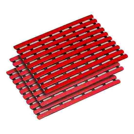 Bademåtte på mål 60 cm, Rød