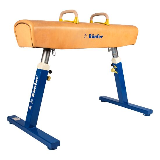 Bänfer® ''Exclusive'' Pommel Horse Without castors, Natural leather