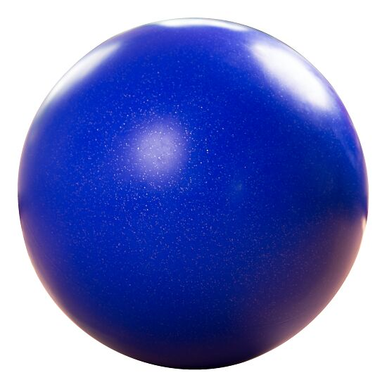 Balance-Kugel / Laufkugel ø ca. 60 cm, 12 kg, Dunkelblau mit Silber-Flitter