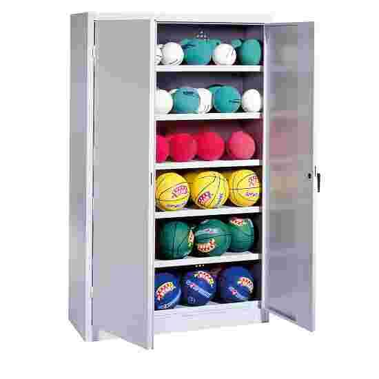 Ball Cabinet, HxWxD 195x120x40 cm, with Sheet Metal DoubleDoors (type 3) Light grey (RAL 7035), Light grey (RAL 7035)