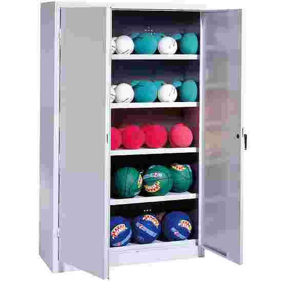Ball Cabinet, HxWxD 195x150x50 cm, with Sheet Metal Double Doors (type 3) Light grey (RAL 7035), Light grey (RAL 7035)