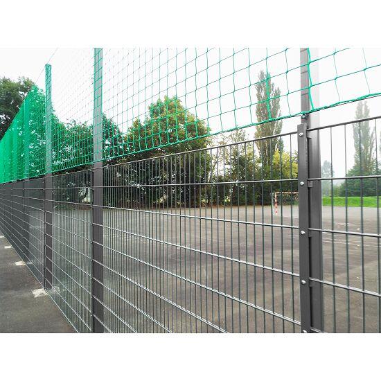 Ballfangnetz-Anlage mit Doppelstabmatte, 40 m Verzinkt, 40x4 m