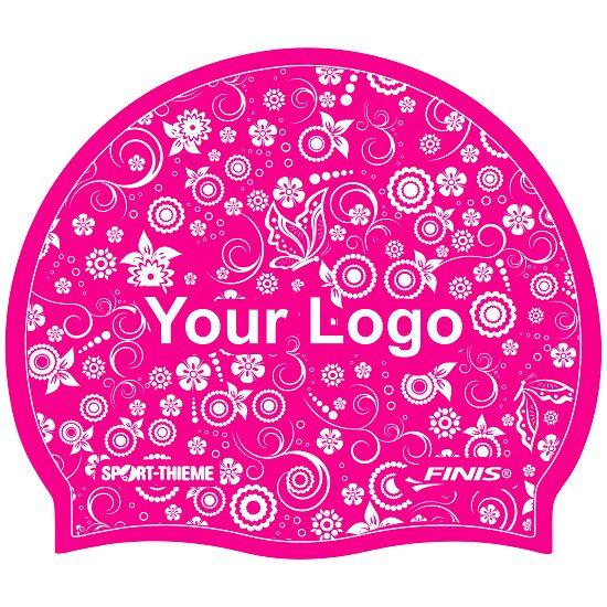 Bedruckte Badekappe Silikon Pink, 1-seitig