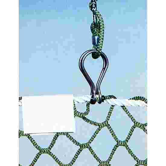 Befestigungseinheit für hochziehbare Schutznetze