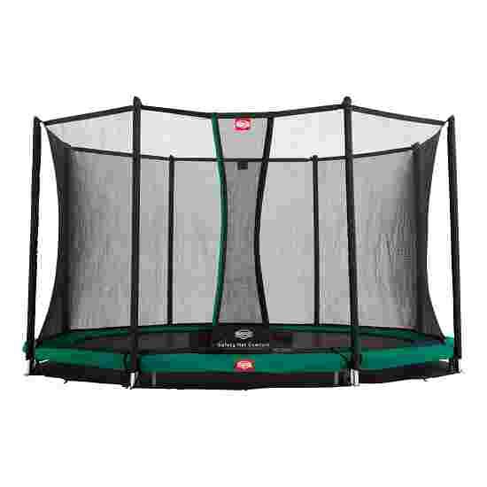 "Berg ""Champion"" InGround Trampoline with Comfort Safety Net Trampoline Green edge cover, 380 cm"