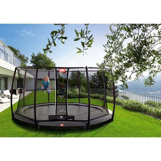 berg trampolin inground champion mit sicherheitsnetz deluxe kaufen sport thieme. Black Bedroom Furniture Sets. Home Design Ideas
