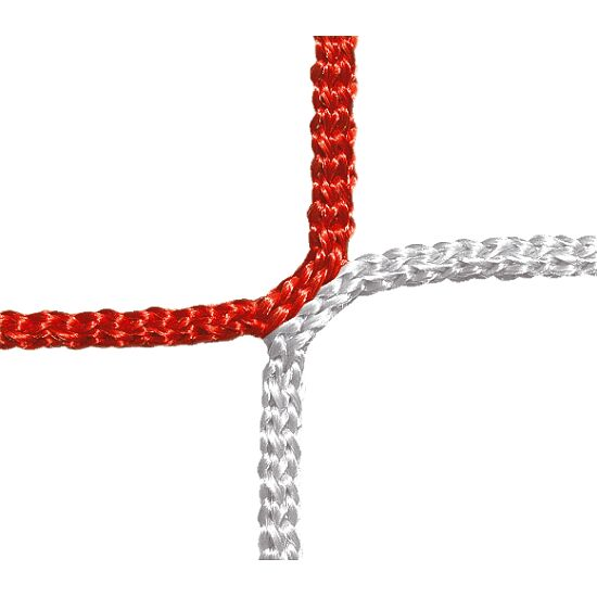 Beskyttelses- og fangnet, maskestørrelse på 12 cm. Rød-hvid, linetykkelse 4 mm