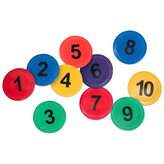 Bunte Bodenmarkierungen Zahlen 1-10