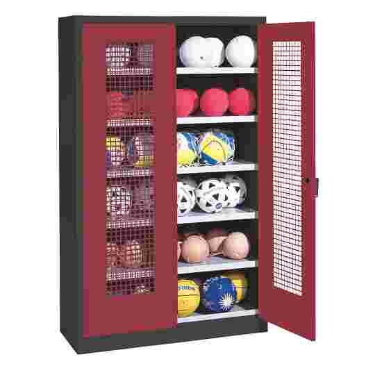 C+P Ball Cabinet Ruby red (RAL 3003), Anthracite (RAL 7021)