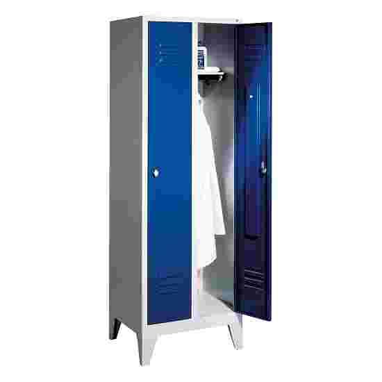 """C+P Garderobenschrank """"S 2000 Classic"""" mit 150 mm hohen Füßen 185x81x50 cm/ 2 Abteile, 40 cm"""