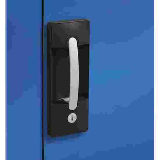 C+P Modul-Sportgeräteschrank (HxBxT 195x120x50 cm, mit Lochblech-Flügeltüren) Lichtgrau (RAL 7035), Lichtgrau (RAL 7035), Einzelschließung, Ergo-Lock Muldengriff