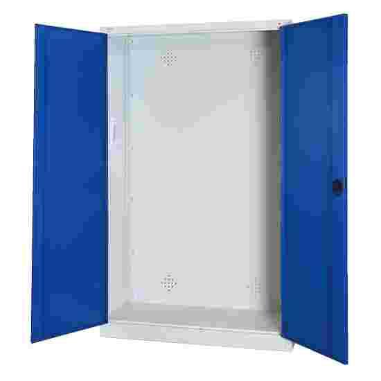 C+P Modul-Sportgeräteschrank (HxBxT 195x120x50 cm, mit Vollblech-Flügeltüren) Enzianblau (RAL 5010), Lichtgrau (RAL 7035), Einzelschließung, Klinkengriff