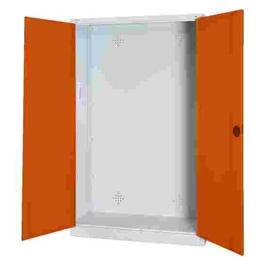 C+P Modul-Sportgeräteschrank (HxBxT 195x120x50 cm, mit Vollblech-Flügeltüren) Sienarot (RDS 050 40 50), Lichtgrau (RAL 7035), Einzelschließung, Klinkengriff