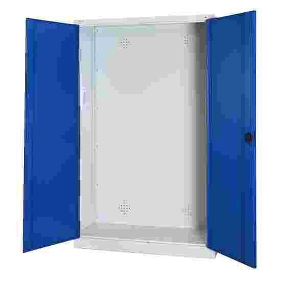 C+P Modul-Sportgeräteschrank (HxBxT 195x120x50 cm, mit Vollblech-Flügeltüren) Enzianblau (RAL 5010), Lichtgrau (RAL 7035), Einzelschließung, Ergo-Lock Muldengriff