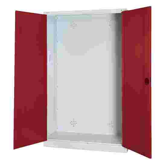 C+P Modul-Sportgeräteschrank (HxBxT 195x120x50 cm, mit Vollblech-Flügeltüren) Rubinrot (RAL 3003), Lichtgrau (RAL 7035), Einzelschließung, Ergo-Lock Muldengriff