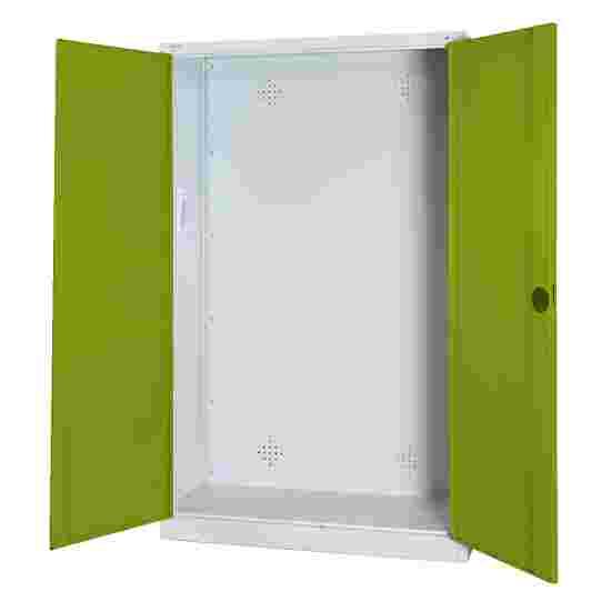 C+P Modul-Sportgeräteschrank (HxBxT 195x120x50 cm, mit Vollblech-Flügeltüren) Viridingrün (RDS 110 80 60), Lichtgrau (RAL 7035), Einzelschließung, Ergo-Lock Muldengriff