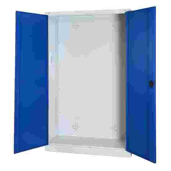 C+P Modul-Sportgeräteschrank (HxBxT 195x120x50 cm, mit Vollblech-Flügeltüren) Enzianblau (RAL 5010), Lichtgrau (RAL 7035), Gleichschließung, Ergo-Lock Muldengriff