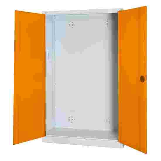 C+P Modul-Sportgeräteschrank (HxBxT 195x120x50 cm, mit Vollblech-Flügeltüren) Gelborange (RAL 2000), Lichtgrau (RAL 7035), Gleichschließung, Ergo-Lock Muldengriff