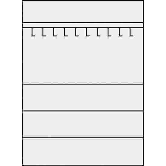 C+P Sportgeräteschrank  (HxBxT 195x120x50 cm, mit Lochblech-Flügeltüren, Typ 2) Lichtgrau (RAL 7035), Lichtgrau (RAL 7035), Einzelschließung, Klinkengriff