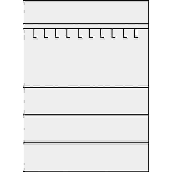 C+P Sportgeräteschrank  (HxBxT 195x120x50 cm, mit Vollblech-Flügeltüren, Typ 2) Lichtgrau (RAL 7035), Lichtgrau (RAL 7035), Einzelschließung, Ergo-Lock Muldengriff