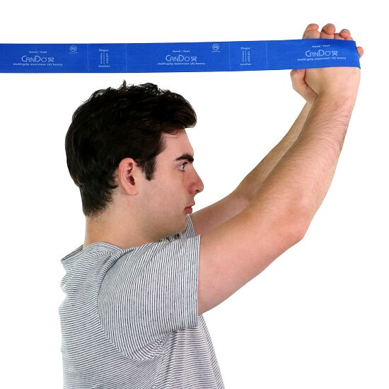 "CanDo® Multi-Grip™ Fitnessband ""Exerciser"" Blau, extra stark"
