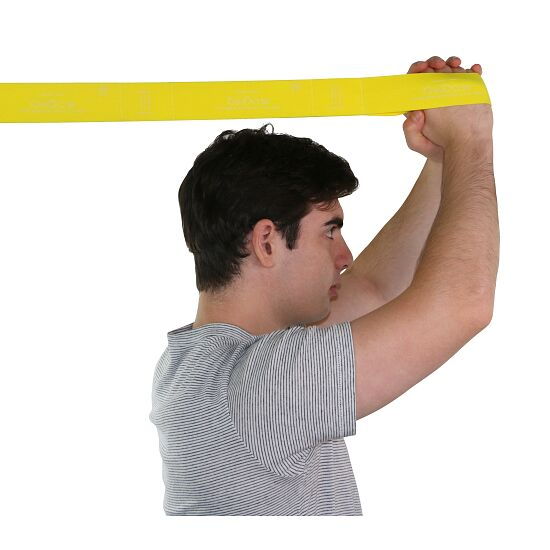"CanDo Multi-Grip Fitnessband ""Exerciser Rolle"" Gelb, leicht"