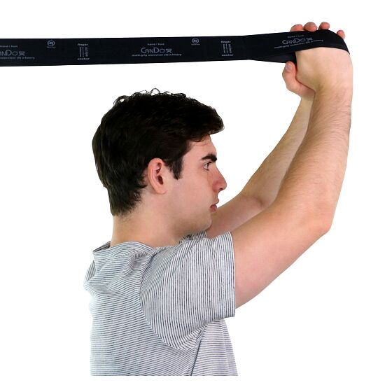 "CanDo Multi-Grip Fitnessband ""Exerciser Rolle"" Schwarz, besonders stark"