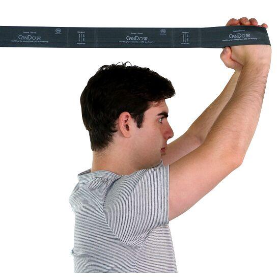 """CanDo Multi-Grip Fitnessband """"Exerciser Rolle"""" Silber, ultra stark"""