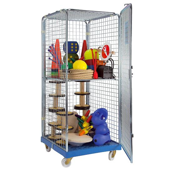 """Classic Rollbox N°5"" Equipment Transport Trolley 1 door, With 1 collapsible shelf"