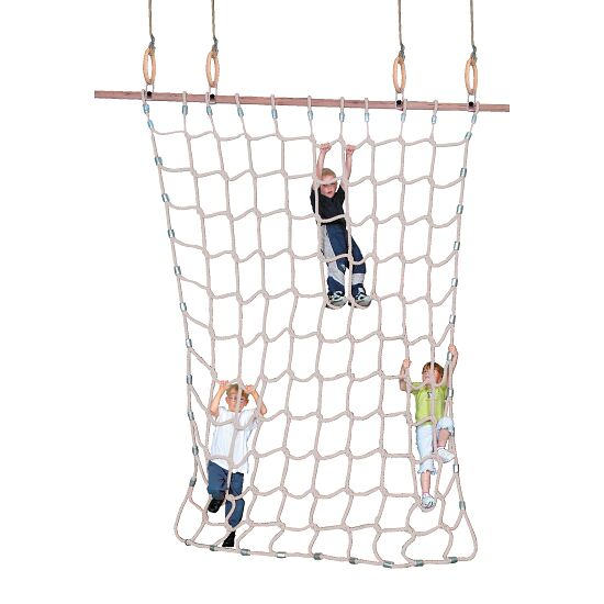 Climbing Net for Gymnastics Rings Natural staple fibre