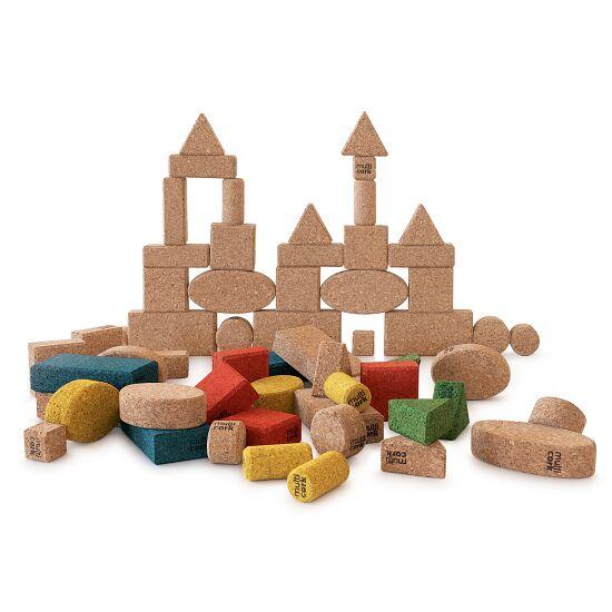 Cork Building Blocks Natural, 175-piece set