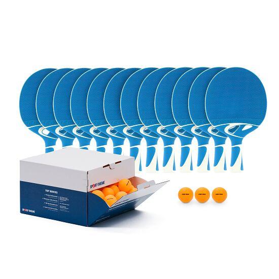"Cornilleau® ""Tacteo 30 Outdoor"" Table Tennis Bat Set Orange balls"