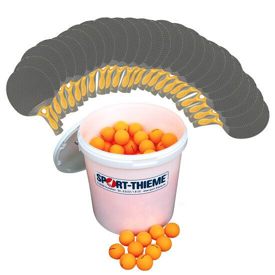 Cornilleau® Tischtennis-Outdoor-Set Bälle Orange