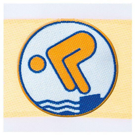 Deutsches Schwimmabzeichen Gold, Zum Aufnähen, quadratisch von Rolle