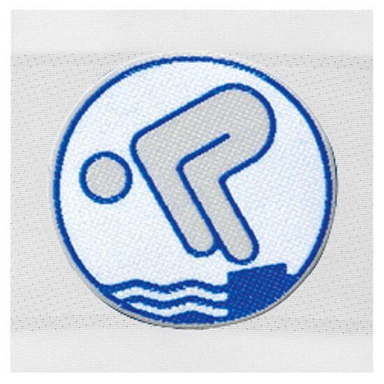 Deutsches Schwimmabzeichen Silber, Zum Aufnähen, quadratisch von Rolle