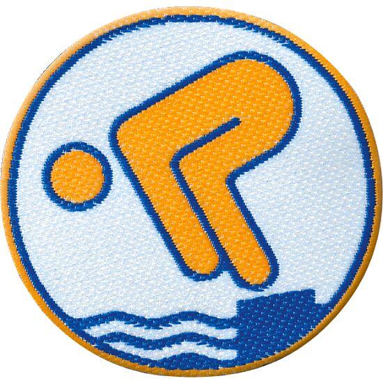 Deutsches Schwimmabzeichen Gold, Mit Bügelbeschichtung, rund lasergeschnitten