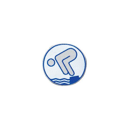 Deutsches Schwimmabzeichen Silber, Mit Bügelbeschichtung, rund lasergeschnitten