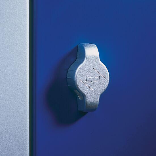 """Dobbelt Garderobeskab """"S 2000 Classic"""" med 100 mm høj sokkel 180x61x50 cm/ 4 Fag, 300 mm"""
