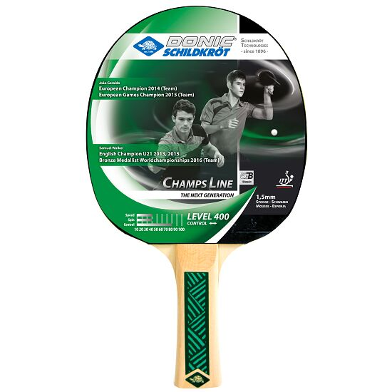"""DONIC® Schildkröt Table Tennis Bat """"Champs 400"""""""