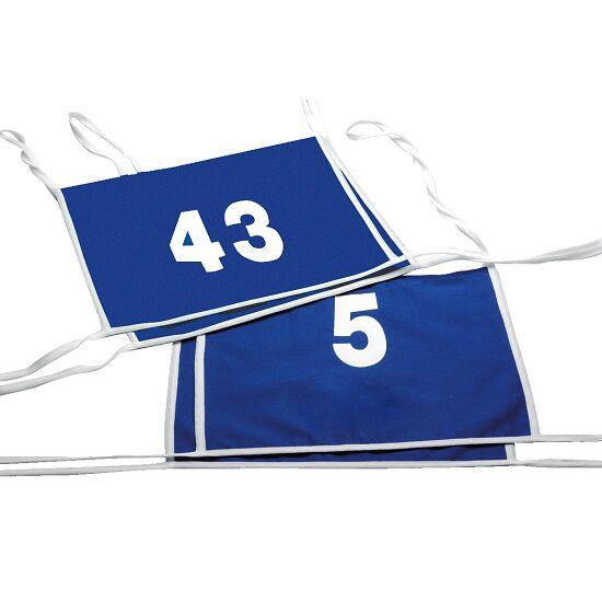 Doppel-Startnummern mit Paspelbändchen Zahlen 1- oder 2-stellig, Blau