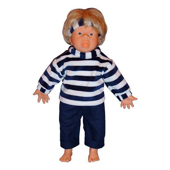 Down-Syndrom Puppen Junge, offener Mund