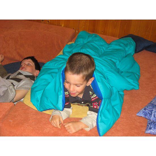 Enste® Schwere Decke/Gewichtsdecke 90x72 cm / Grün-Blau, Außenhülle Baumwolle