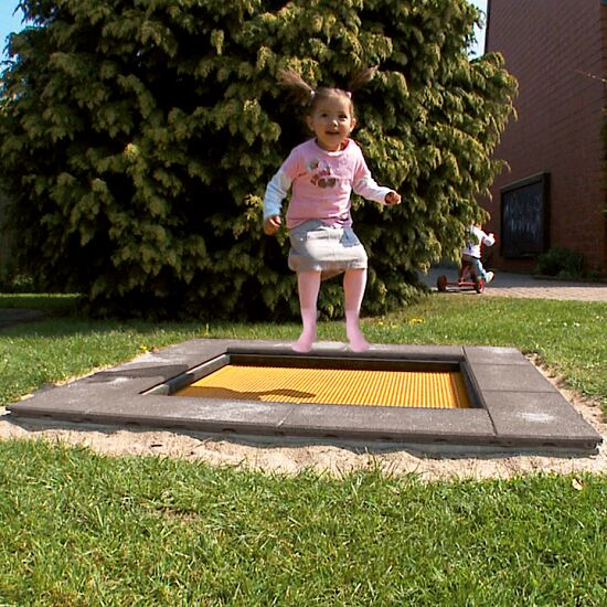 "Eurotramp Kids-Jordtrampolin ""Børnehave Mini"" Firkantet springdug"