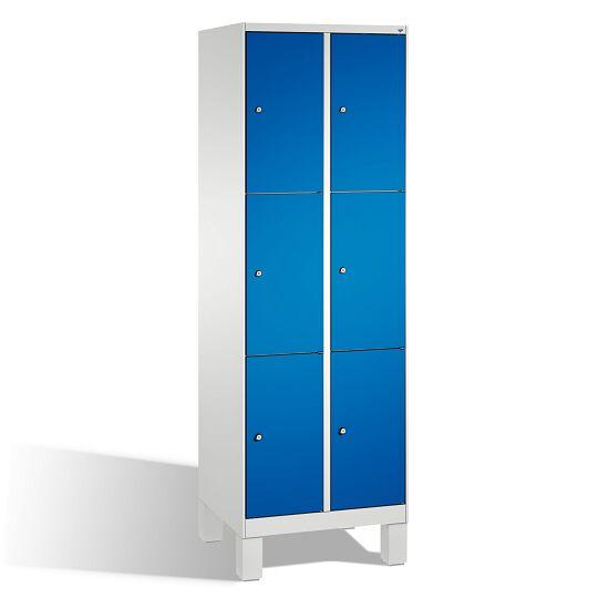 """Fächerschrank """"S 3000 Evolo"""" mit Füßen (3 Fächer übereinander) 185x60x50 cm/ 6 Fächer, Enzianblau (RAL 5010)"""