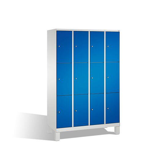 """Fächerschrank """"S 3000 Evolo"""" mit Füßen (3 Fächer übereinander) 185x120x50 cm/ 12 Fächer, Enzianblau (RAL 5010)"""